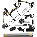 2021 Compound Bow and Arrow for Adults and Teens – Bowfishing and Hunting Bow with Gordon Limbs Made in USA - Fully Adjustabl