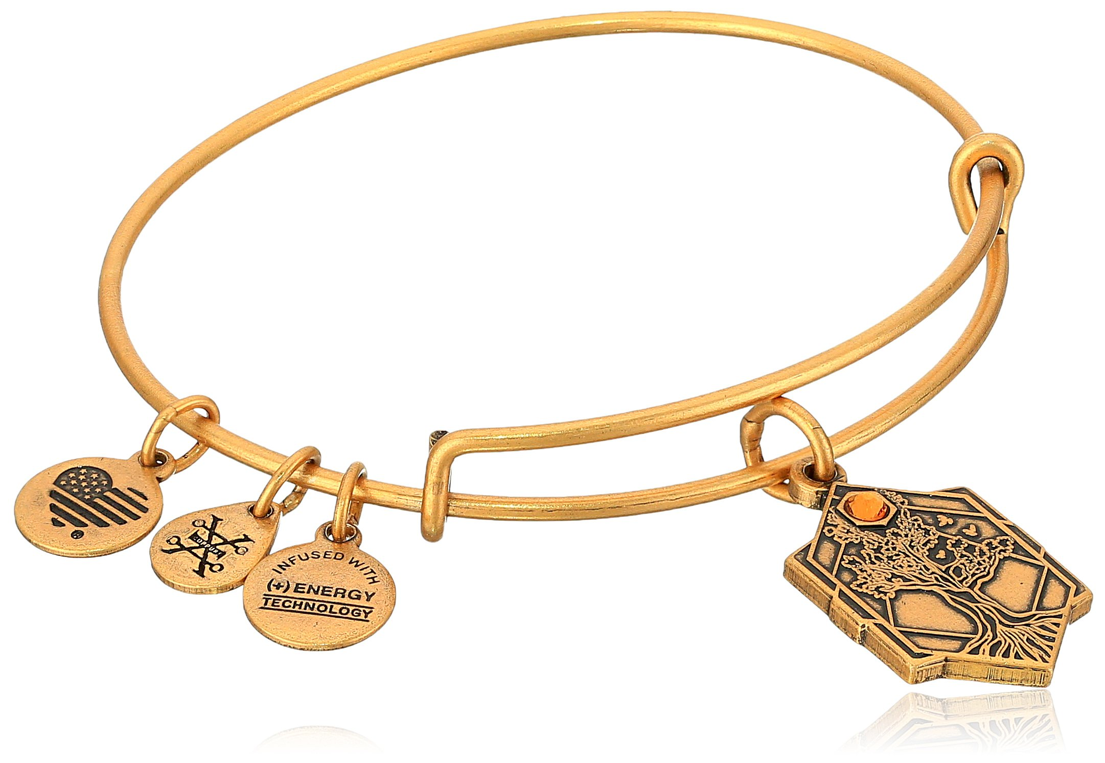 Alex and Ani Tree of Life IV Rafaelian Gold Bangle Bracelet