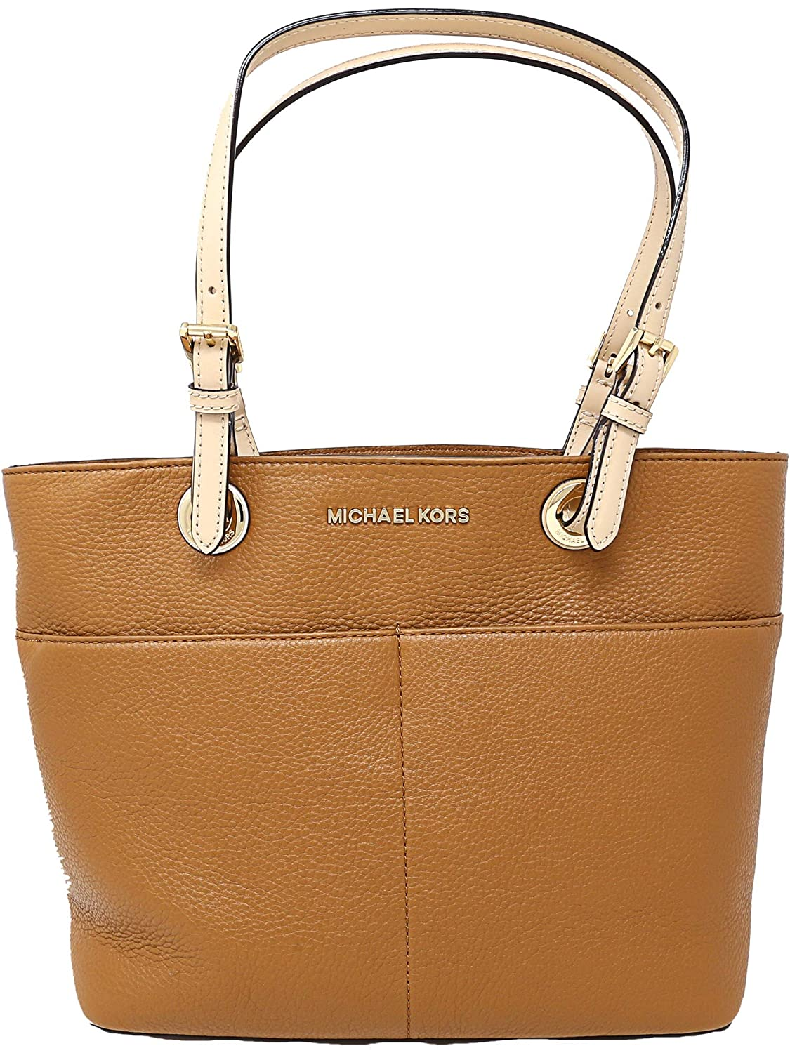 Michael Kors Womens Bedford Leather Top Handle Bag Tote Satchel Small Acorn Authentic Shoes