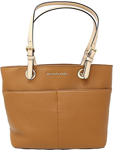 d4b4cd915119e Michael Kors Women s Bedford Leather Top-Handle Bag Tote - Acorn ...