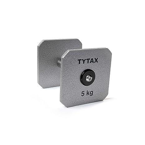 TYTAX Mancuerna olímpica Originale 5KG de Acero Plateado Premium ...