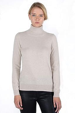 cf7e1f97ea0 JENNIE LIU Women s 100% Pure Cashmere Long Sleeve Pullover Turtleneck  Sweater
