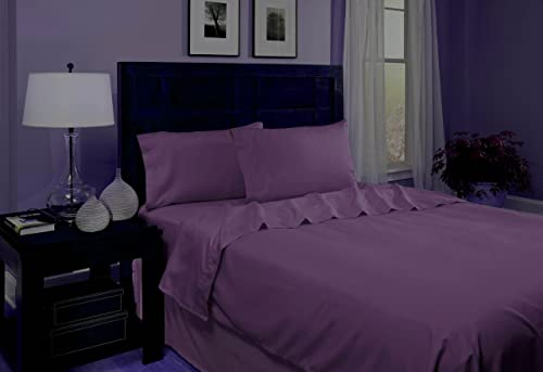 Divatex Microfiber Sheet Sets, Queen, Purple