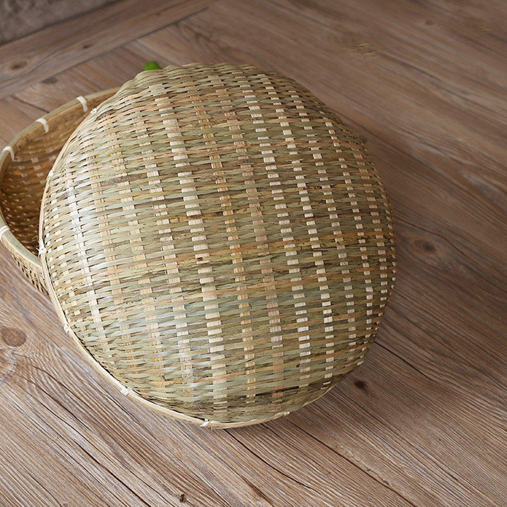 Natural Handmade Hand-woven Bamboo Baskets Dustpan Fruits Vegetables Drain Basket Snack Food Bread Storage Basket feiledi Trade
