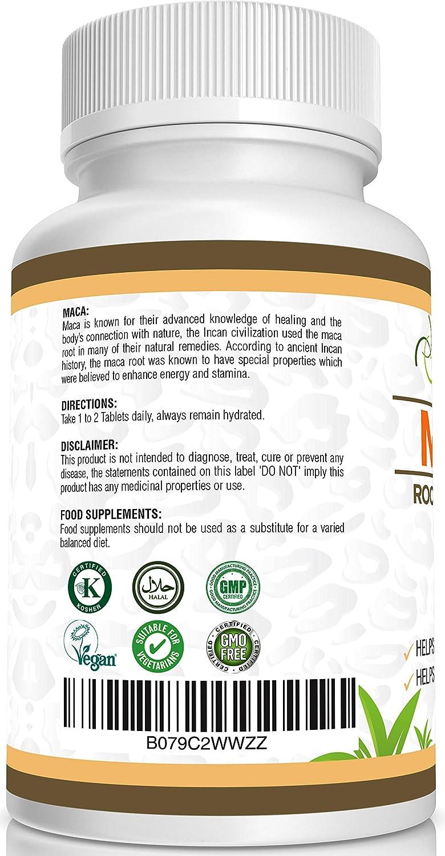 EXTRACTO DE RAÍZ DE MACA Por JeaKen - 60 x 500 mg cápsulas - Aumenta los niveles de energía y la vitalidad - Alto en vitaminas y minerales - Para ...