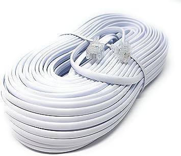 ADSL Banda Acha M/ódem Cable RJ11 A RJ11 Blanco 5 m