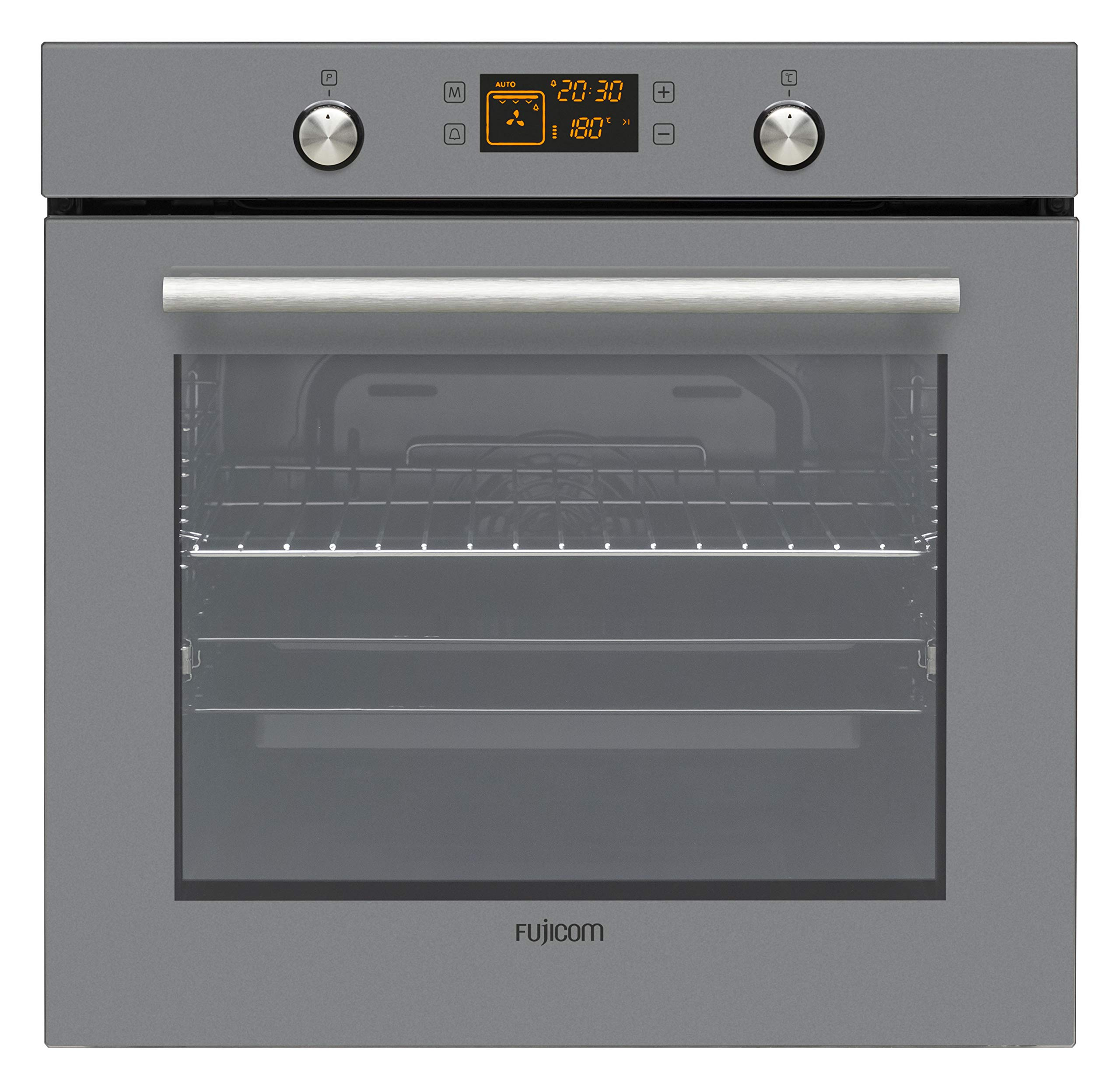 FUJICOM 75-L Built-in Oven - 9 Programs Including Active Turbo - Perfect for Cooking Baking & Grilling - Smooth Enamel Coating - Pop-Out Power Buttons for Easy Cleanup - A Energy Rated by FUJICOM