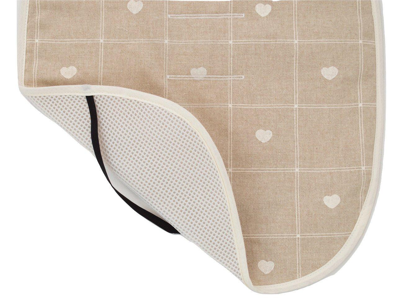Colchoneta o funda Universal para silla de paseo o cochecito + Protector de arneses. Modelo Corazones