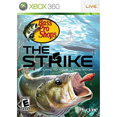 Amazon Com Bass Pro Shops The Strike Bundle With Fishing Rod Xbox 360 Video Games