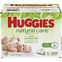 HUGGIES - Toallitas de bebé sin aroma, cuidado natural, sensibles