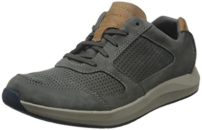 Clarks Sirtis Mix Men's Casual Trainers Grey Nubuck 6½ G