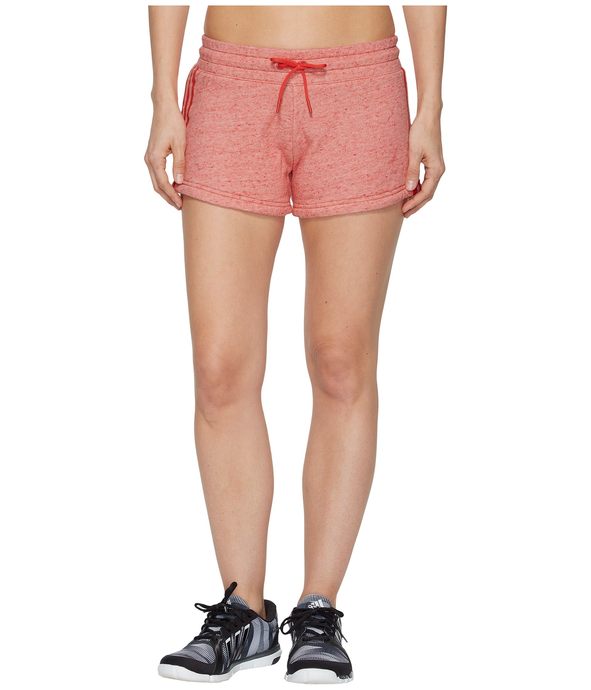 adidas Womens Athletics Sport 2 Street Shorts, Mélange/Real Coral, Small by adidas
