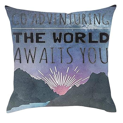 Frases inspiradoras lino y algodón manta fundas de almohada ...