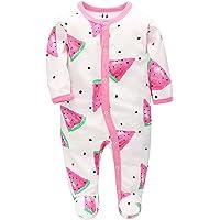 Pijama de Algodón, Peleles para Bebés Niña,Peleles para Dormir para Bebés 0-6 Meses