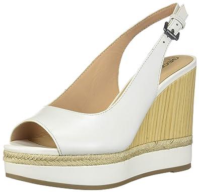 25c8c922eec138 Geox D Yulimar A, Sandales Bout Ouvert Femme: Amazon.fr: Chaussures ...