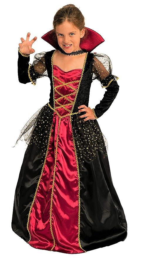 Magicoo principessa vampiro costume Girls Kids Halloween rosso e nero –  Costume da bambino ragazze abito 78288e2e50ab