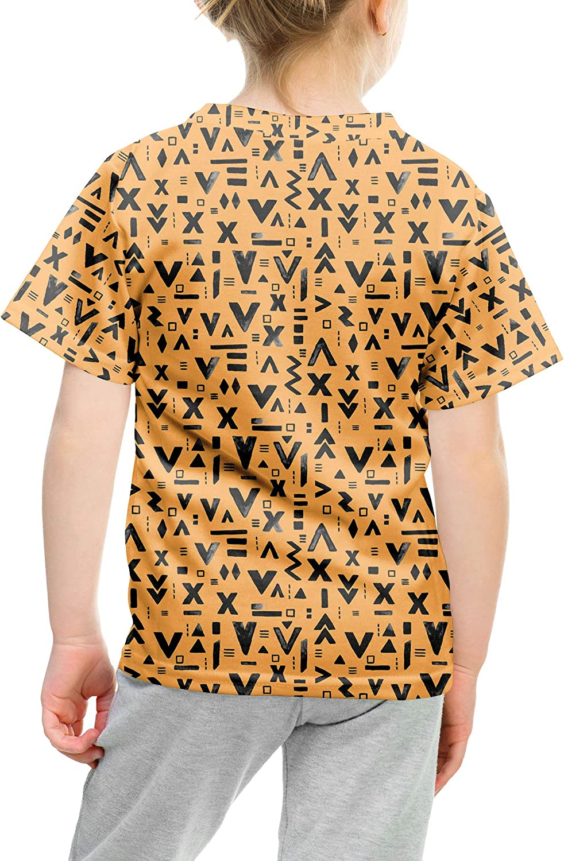 Inked Geometric Symbols Kids Cotton Blend T-Shirt Unisex