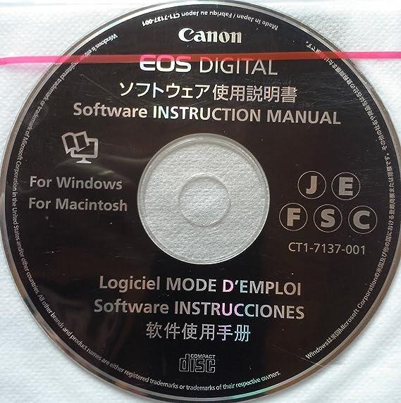 Canon eos digital solution disk & eos digital 29. 5 software.