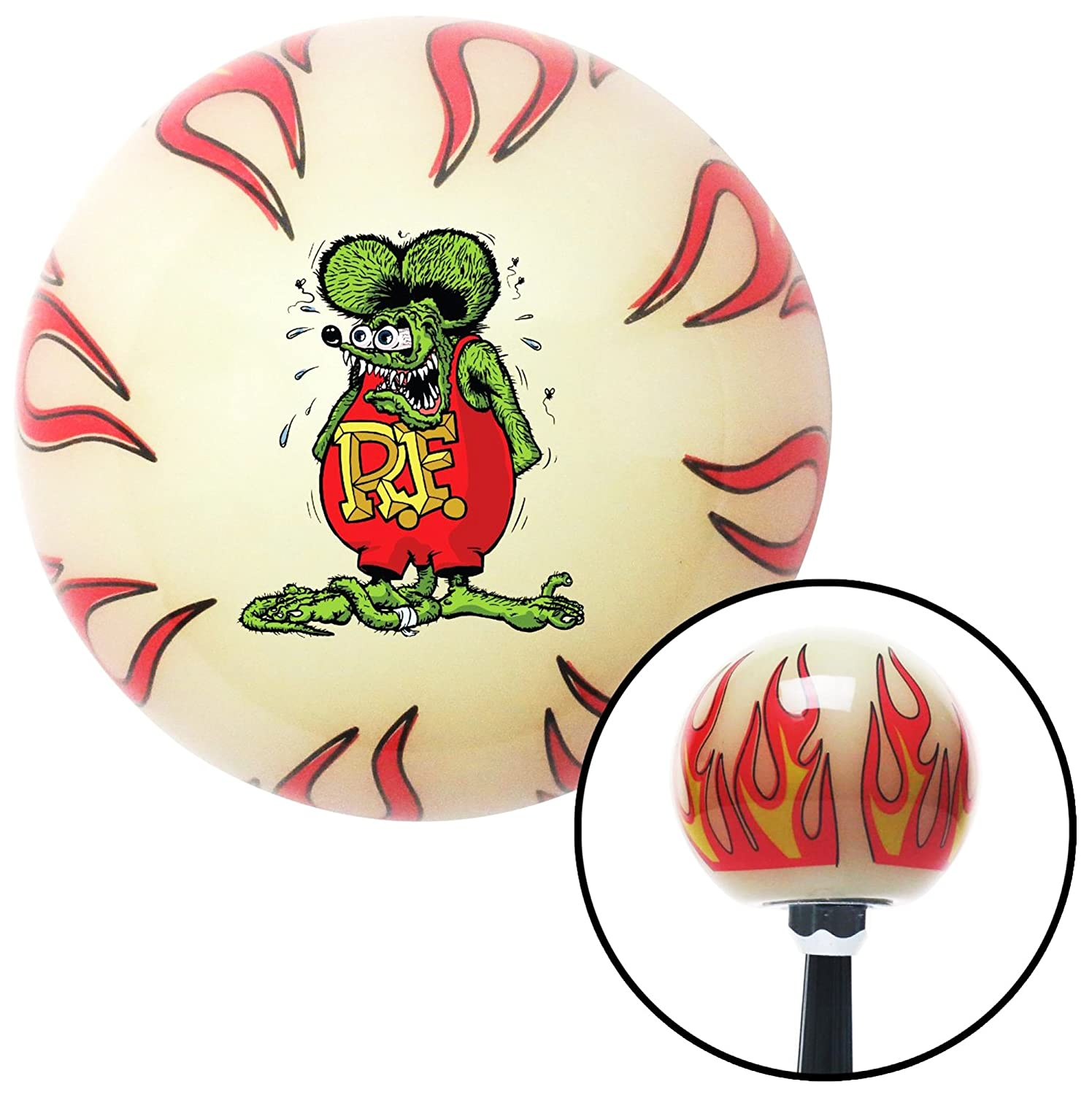 American Shifter 327577 Rat Fink Ivory Flame Shift Knob with M16 x 1.5 Insert