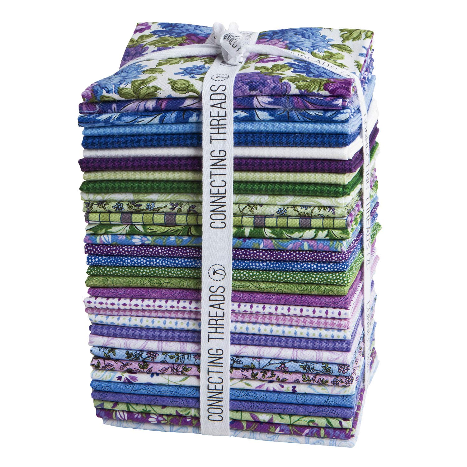 Connecting Threads Print Collection Precut Quilting Fabric Bundle (Mum's Garden - Fat Quarters) by Connecting Threads (Image #1)