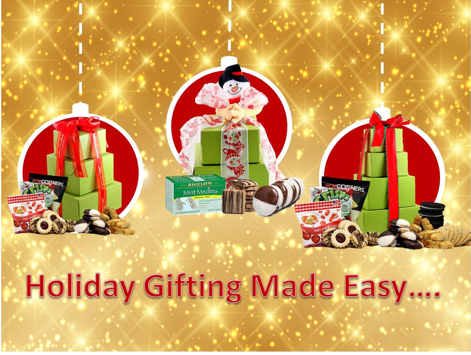 CDM product GlutenFreePalace.com Large-Palace Holiday-Delight-Gift Tower, Gourmet Holiday Gift Baskets, 2-Pound small thumbnail image