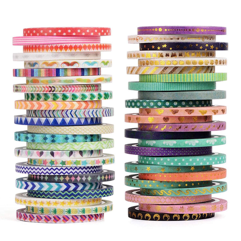48 rolls cintas adhesivas con diseños (4m largo)