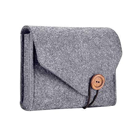 new arrival b8cfe d17b0 ProCase MacBook Power Adapter Case Storage Bag, Felt Portable Electronics  Accessories Organizer Pouch for MacBook Pro Air Laptop Power Supply Magic  ...