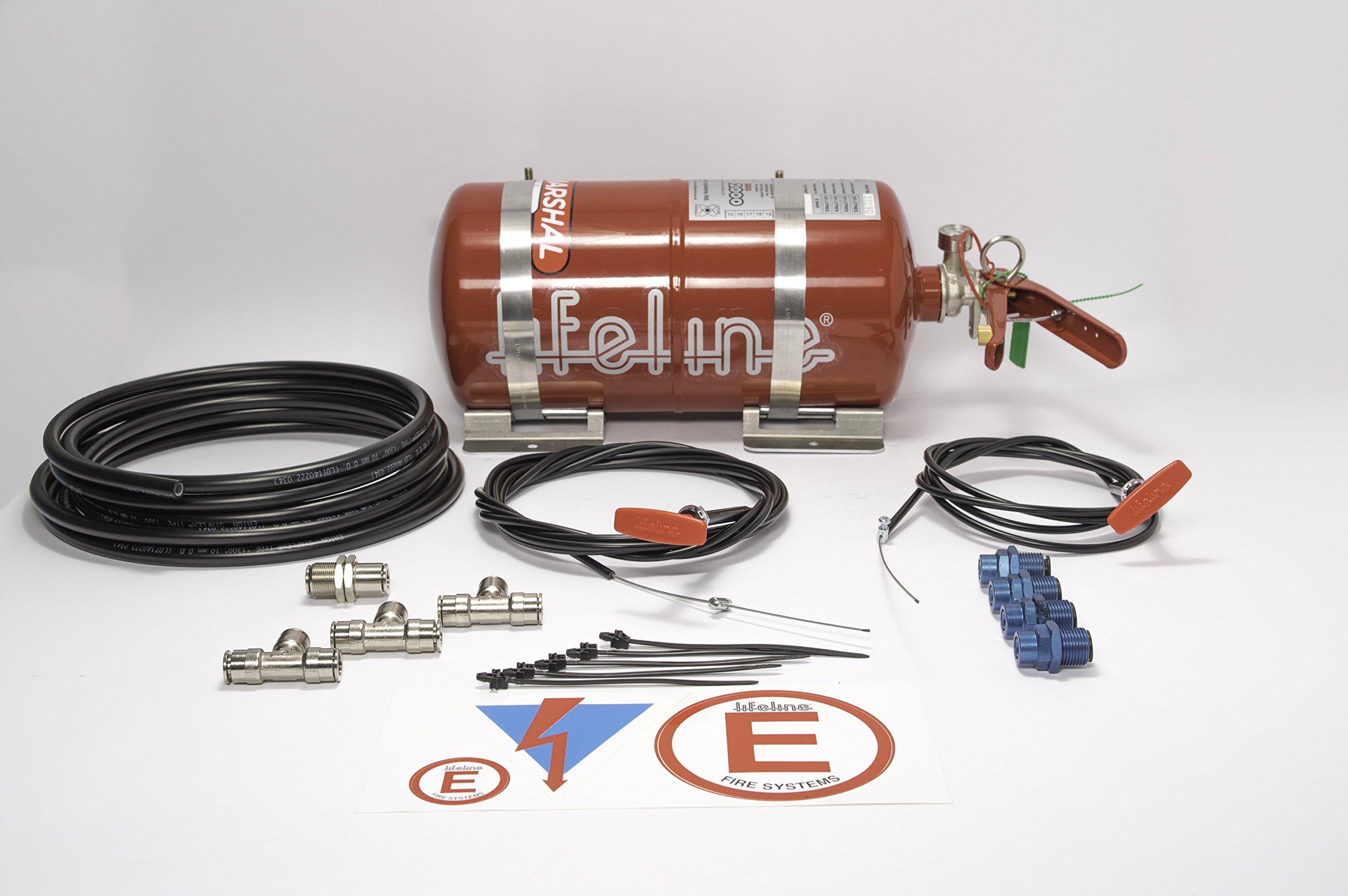Lifeline USA 4.0L Foam Auto Racing Fire Bottle Extinguisher System Zero 2000 by Lifeline Zero 2000