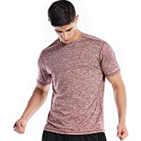 fc3fb4e6dbf Dry Fit Athletic Shirts for Men Short Sleeve Workout Shirt