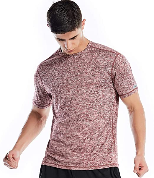 cad15d59 Amazon.com: Dry Fit Athletic Shirts for Men Short Sleeve Workout Shirt:  Clothing