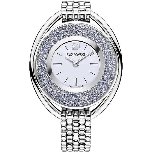 Swarovski - Reloj de pulsera analógico para mujer One Size, Azul, Plata: Amazon.es: Relojes