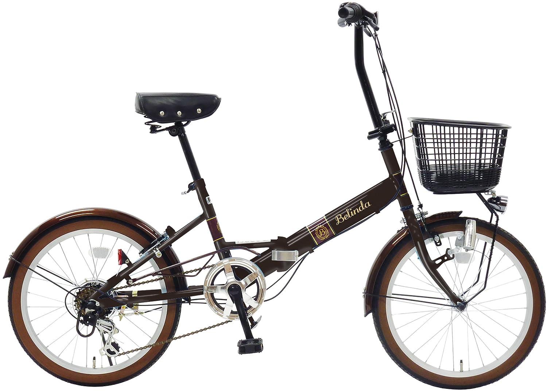 武田産業 フォールディングバイク Belinda [ベリンダ] [外装6段変速 LEDダイナモライト樹脂バスケット] FDO-JH206DX ブラック B0716BHS1H