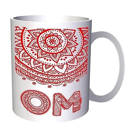 OM Mandala Yoga 330 ml taza ff193: Amazon.es: Hogar