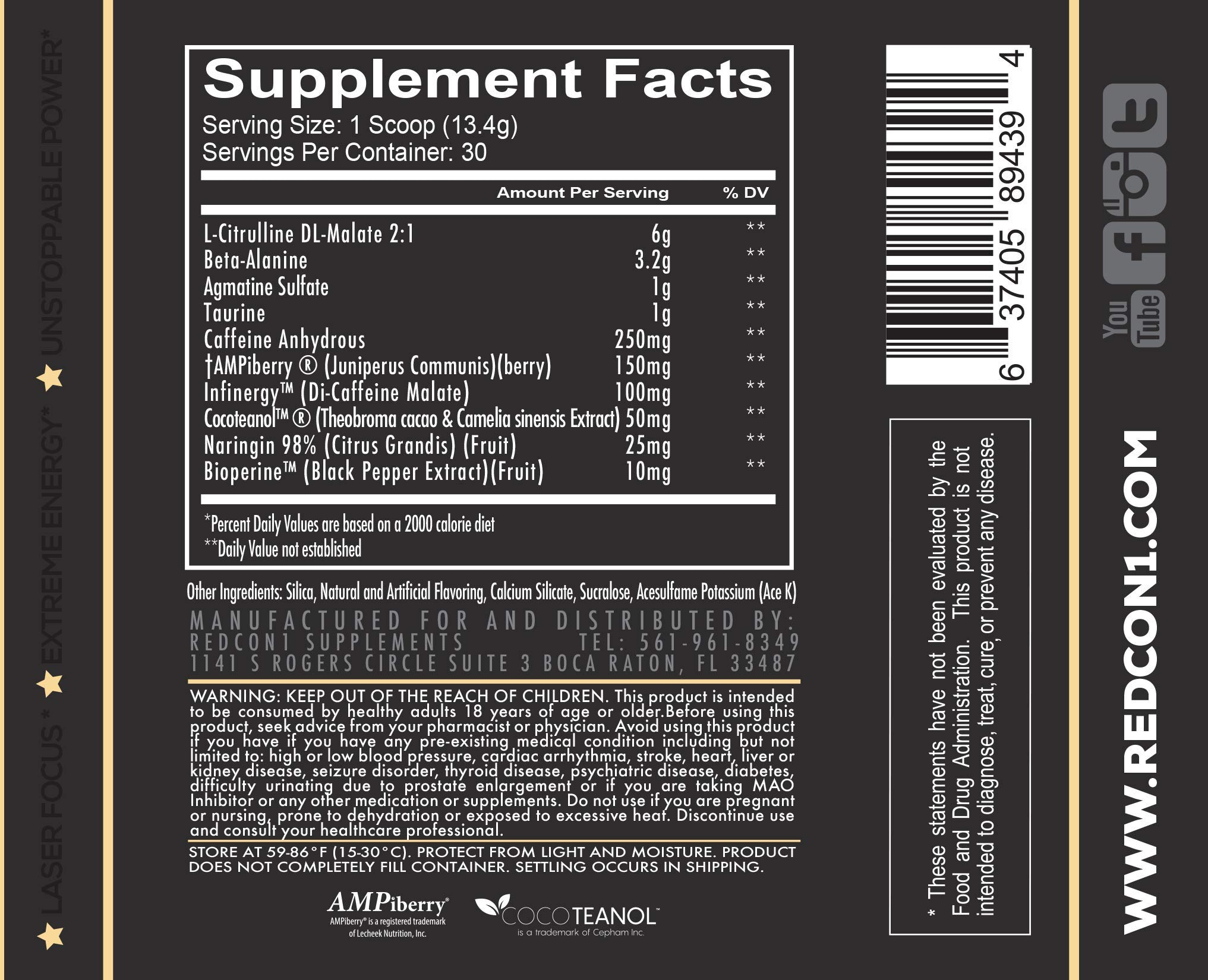 Redcon1 Total War - Pre Workout - 30 Servings - Newly Formulated (Firecracker) by Redcon1 (Image #2)