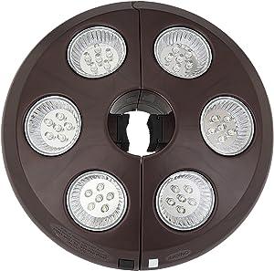 6-Light Rechargeable LED Umbrella Light