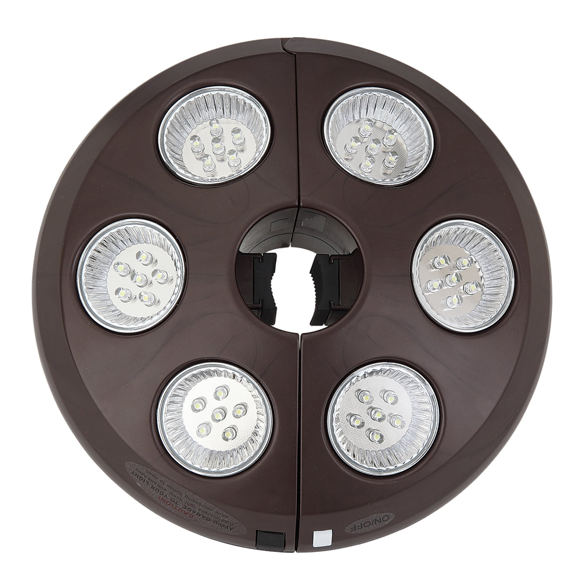 6-Light Rechargeable LED Umbrella Light by Island Umbrella
