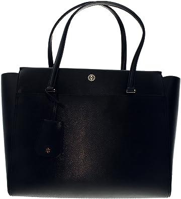 1c9ea369c580 Amazon.com  Tory Burch Women s Parker Leather Top-Handle Bag Tote -  Black Cardomom  Tory Burch  Shoes