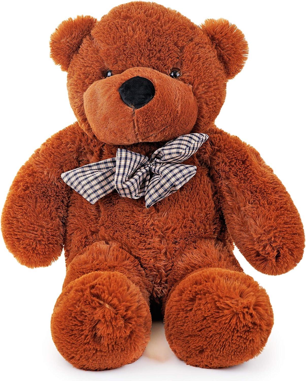 THE TWIDDLERS Oso Peluche 80cm - Gigante Teddy Bear con Sensación De Felpa Suave Regalo para Día De San Valentín, Cumpleaños y Navidad –Grande Tierno Y Romántico para Pareja, Y Ocasiones Especiales