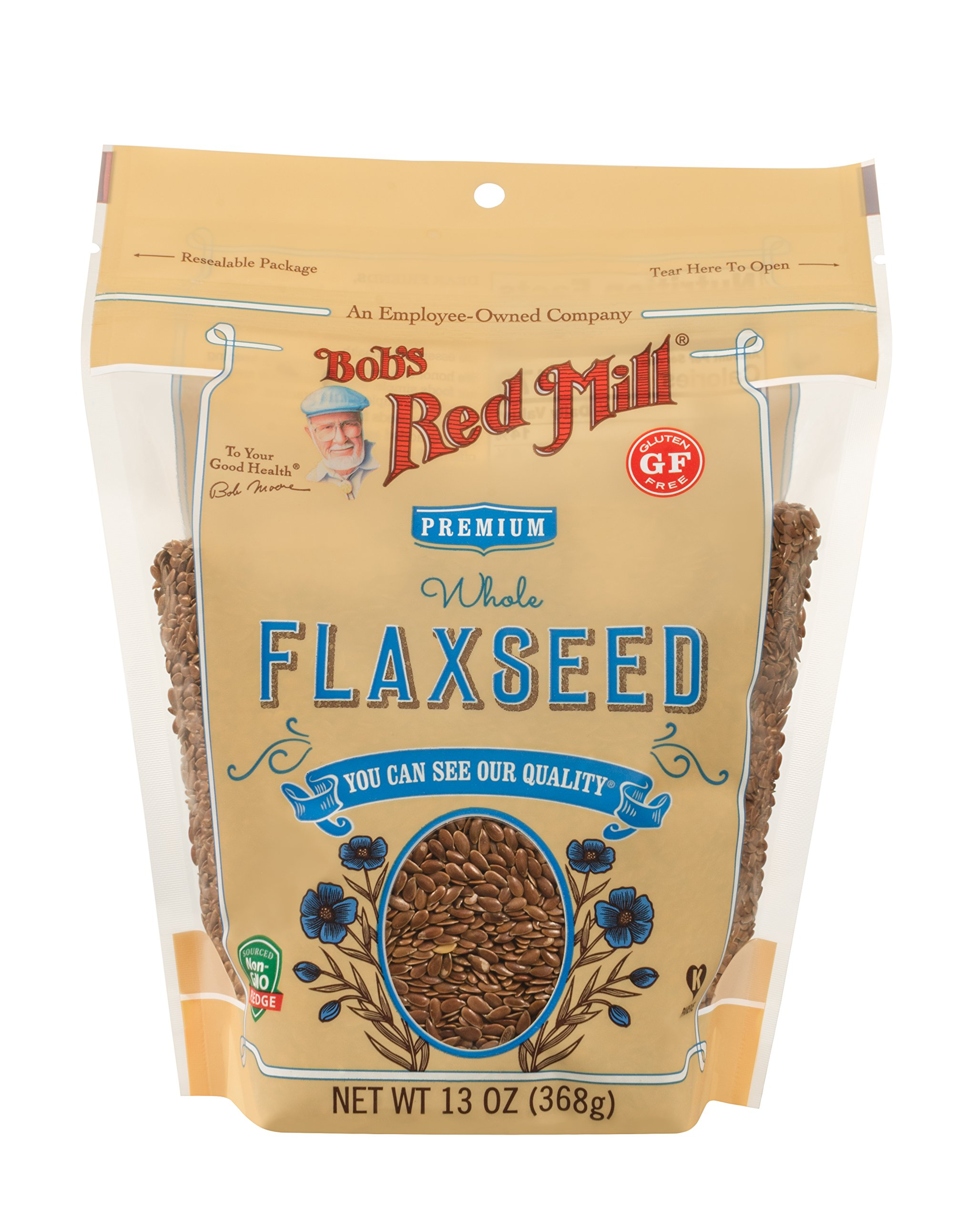 Bob's Red Mill Raw Whole Brown Flaxseed, 13-ounce