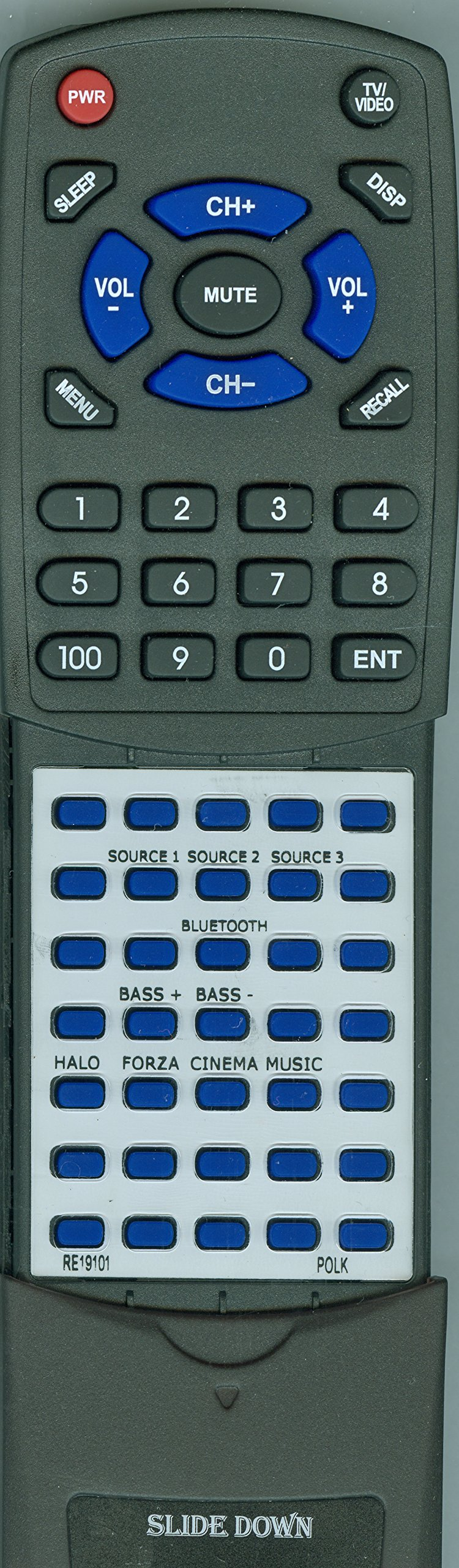 Replacement Remote for Polk N1 Surroundbar, RE1910-1