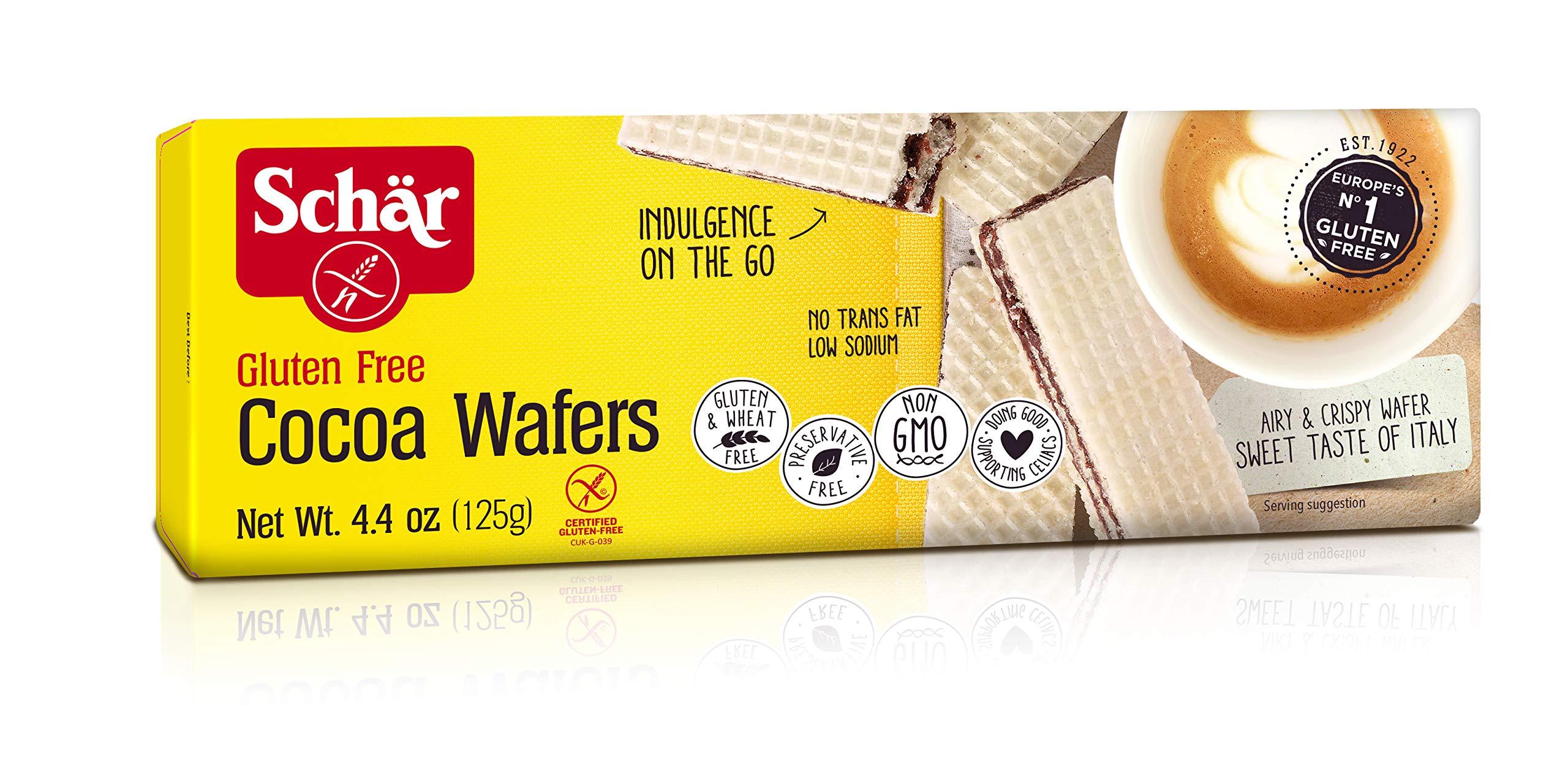 Schär Gluten Free Cocoa Wafers, 4.4 oz., 6-Pack by Schar