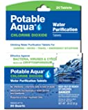 Potable Aqua Chlorine Dioxide Water Purification Tablets - For Camping or Emergency Drinking Water