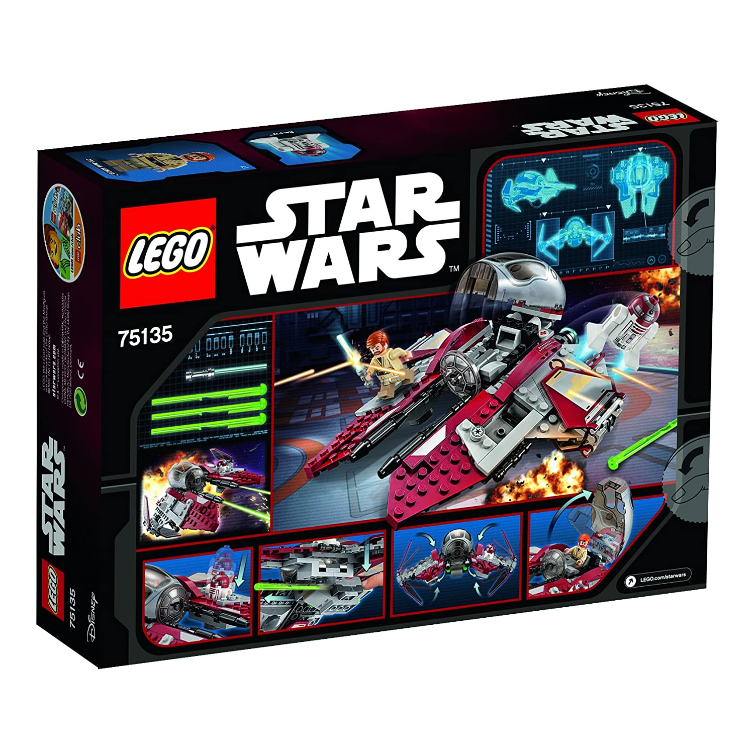 Lego star wars 75135 intercepter dobi wans jedi amazon fr jeux et jouets