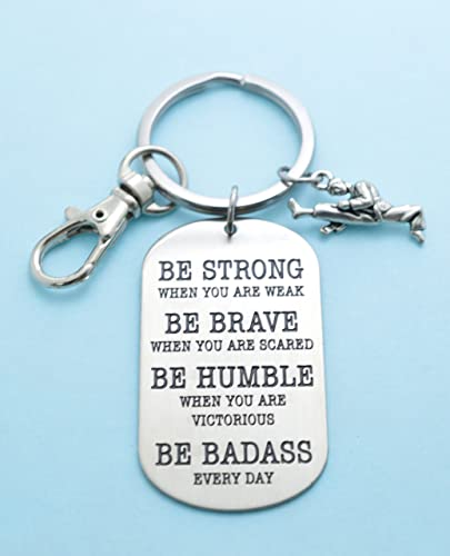 Amazon.com: Mens or boys karate dog tag keychain. Karate key chain. Karate Gifts. Karate Mom. Be Badass Everyday. Gift for him. Martial Arts.: Handmade