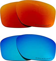 5cc9149f2f SLIVER Replacement Lenses Polarized Blue   Red by SEEK fits OAKLEY  Sunglasses