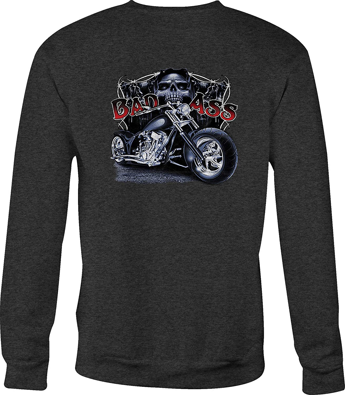 Motorcycle Crewneck Sweatshirt Bad Ass Chopper