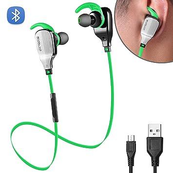 f6c7092daad Evolva Future Technology Deporte Auriculares Bluetooth In-Ear con MicrÓFono  Incorporado para iPhone, Samsung, Smartphones Android (Verde): Amazon.es:  ...