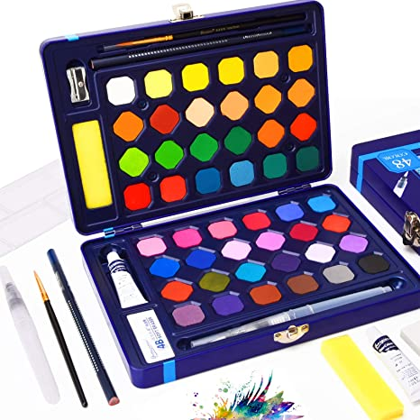 Paint Watercolor Pencils Style Me Up Art Supplies Set with Stickers Brushes