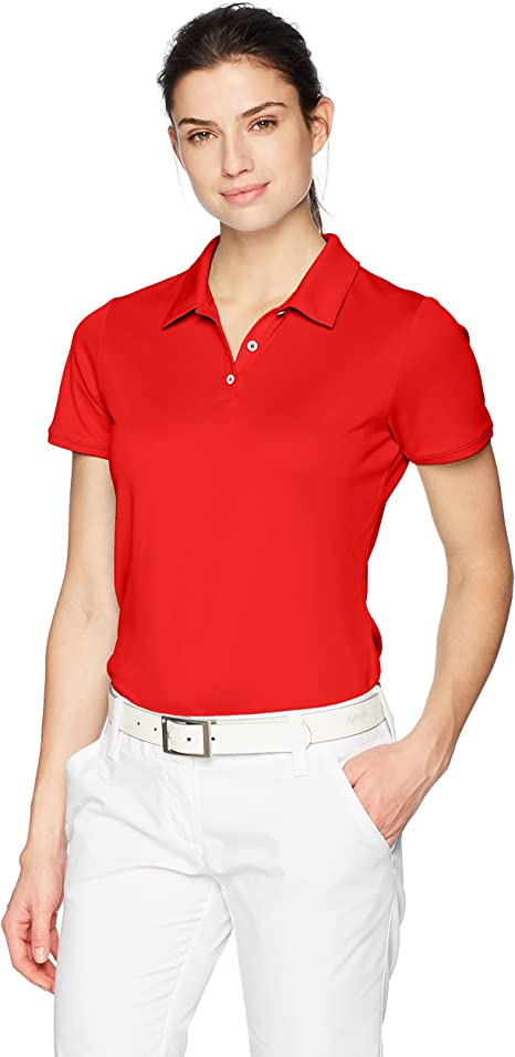 adidas Golf Tournament Short Sleeve Polo, Collegiate Red, Large ...
