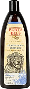 Burt's Bees for Dogs Care Plus+ Micellar Water Shampoo & Waterless Bath Spray | Gently Cleanses and Nourishes Dog Skin and Coats with White Cypress Oil